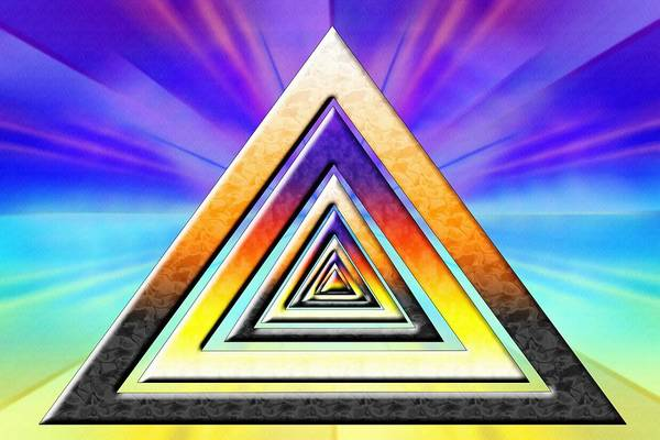 Digital Art - Triangle Pathway by Derek Gedney