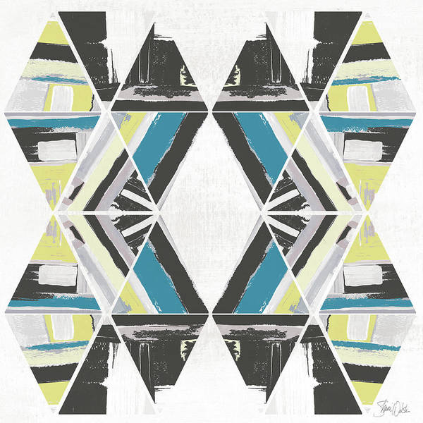 Triangles Painting - Triangle Pattern I by Shanni Welsh