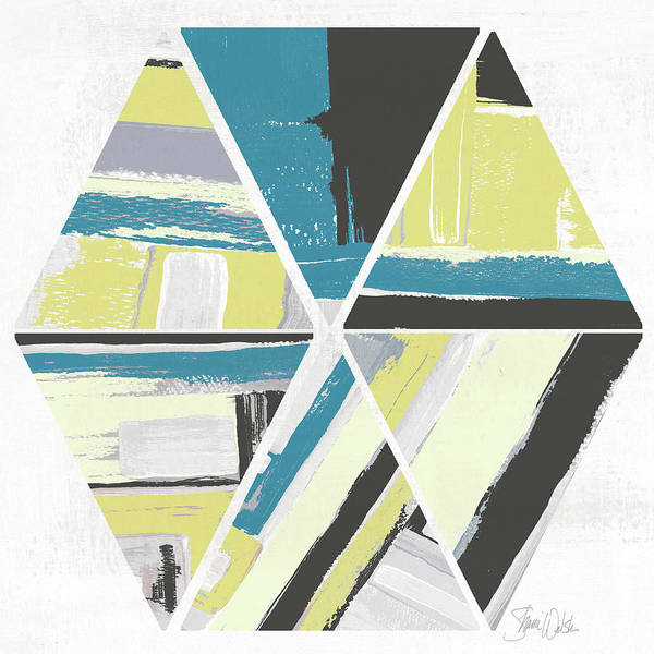 Triangles Painting - Triangle Pattern II by Shanni Welsh