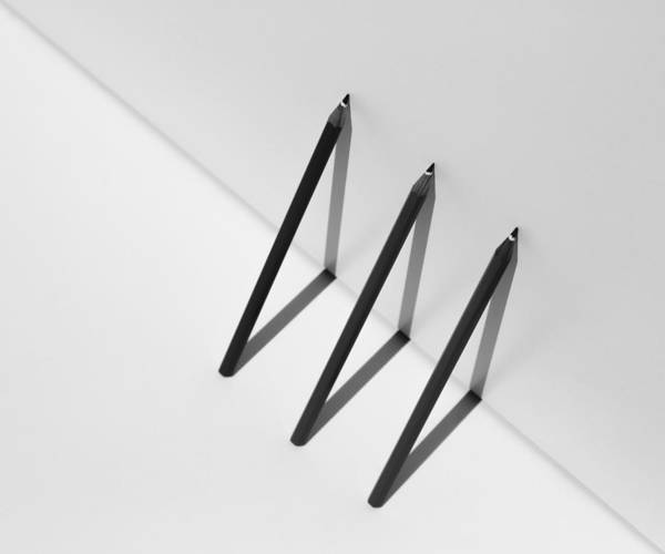 Pen Photograph - Triangles by Jacqueline Hammer