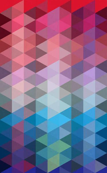 Geometric Painting - Triangles by Mark Ashkenazi
