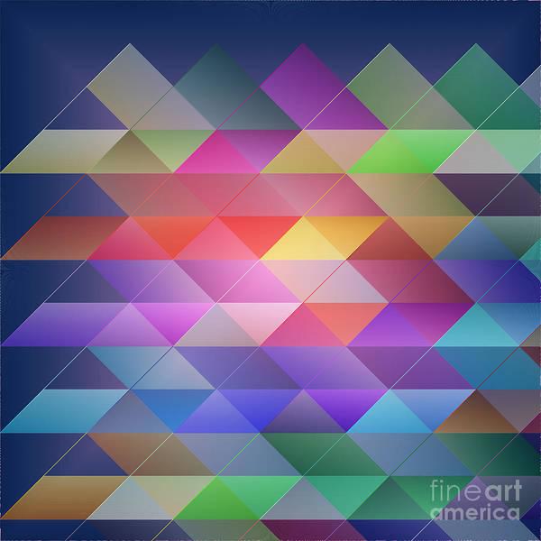 Checker Digital Art - Triangles Structure by Gaspar Avila