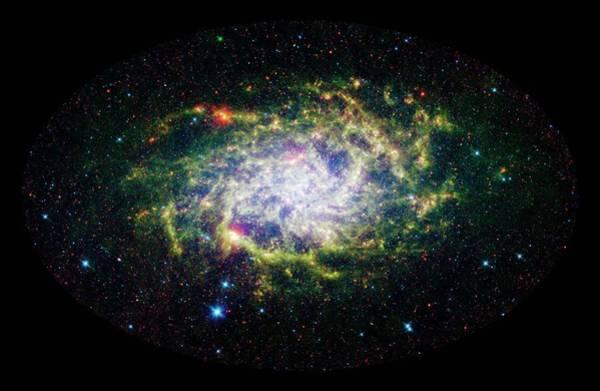 Ir Photograph - Triangulum Galaxy (m33) by Nasa/jpl-caltech/science Photo Library
