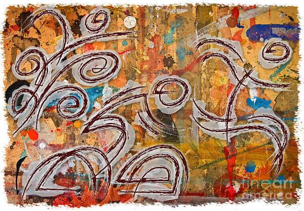 Action Sports Painting - Triathlon Colours by Alejandro Maldonado