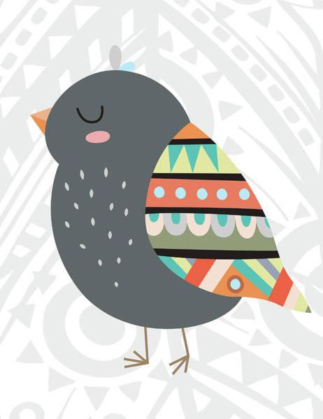Wall Art - Painting - Tribal Bird by Tamara Robinson