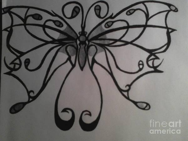 Tribal Butterflly Art Print by K Kagutsuchi Designs