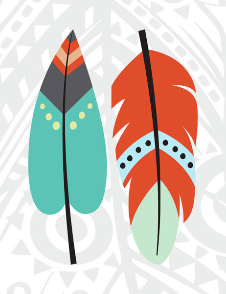 Wall Art - Painting - Tribal Feather by Tamara Robinson
