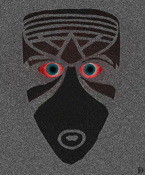Primal Painting - Tribal Mask Work Z by David Lee Thompson