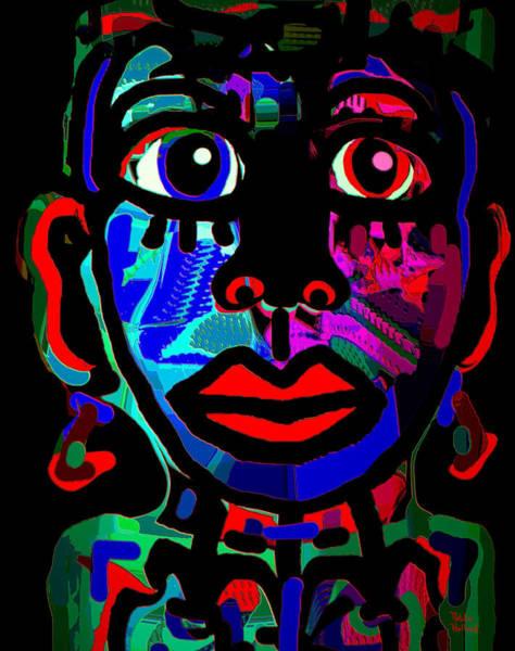 Lip Piercing Wall Art - Mixed Media - Tribal by Natalie Holland