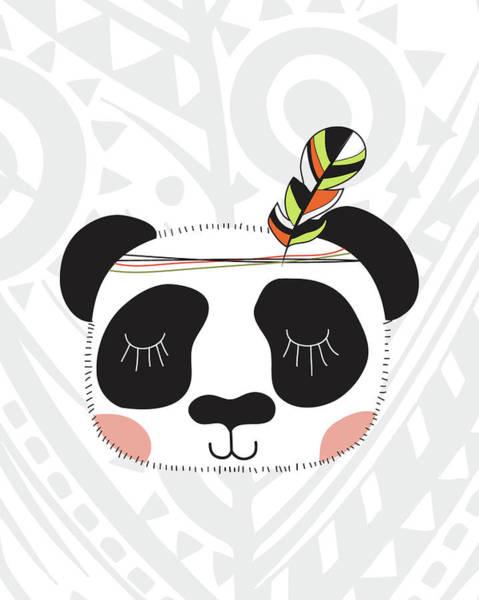 Wall Art - Painting - Tribal Panda by Tamara Robinson