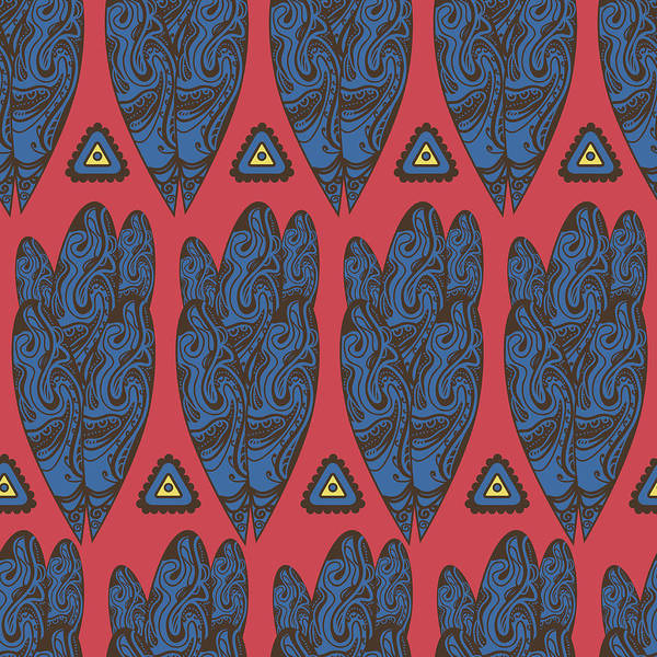 Digital Art - Tribal Pattern by Suriko