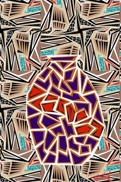 Tribal Dance Digital Art - Tribal Pot by Carl Mellick