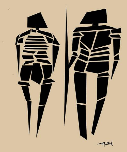 Tribal Dance Digital Art - Tribal Woman And Man by Carl Mellick
