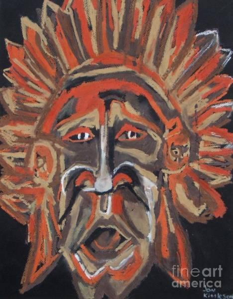 Drawing - Tribesman by Jon Kittleson