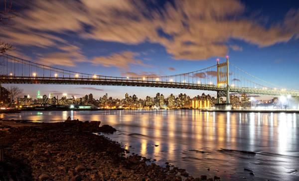 Astoria Bridge Photograph - Triboro At Night by Vicki Jauron