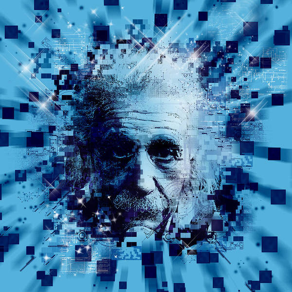 Einstein Wall Art - Painting - Tribute To Genius 2 by Bekim Art