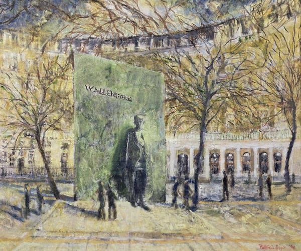 Holocaust Photograph - Tribute To Wallenberg, 1998 Oil On Canvas by Patricia Espir