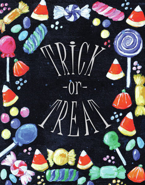 Wall Art - Painting - Trick Or Treat by Anne Seay