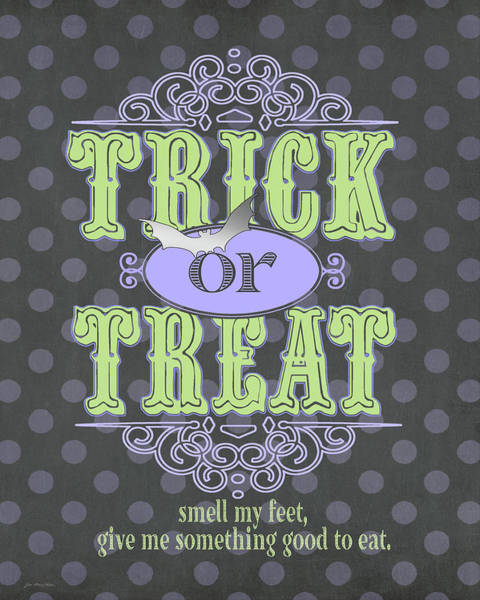 Tricks Painting - Trick Or Treat by Jo Moulton