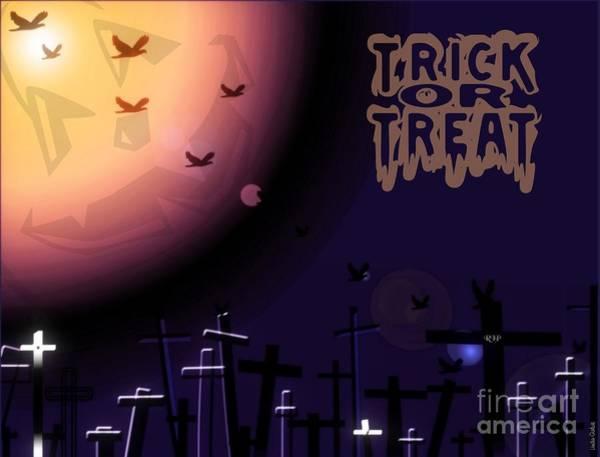 Ghoul Digital Art - Trick Or Treat by Linda Galok