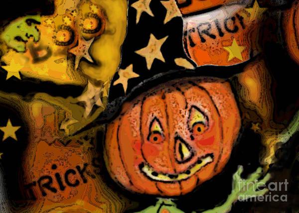 Pumpkinhead Wall Art - Digital Art - Tricky Jack by Carol Jacobs