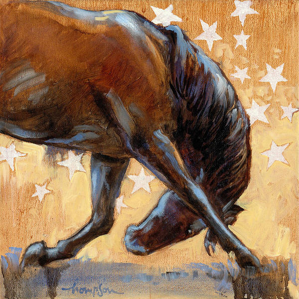 Tricks Painting - Tricky Pony by Tracie Thompson