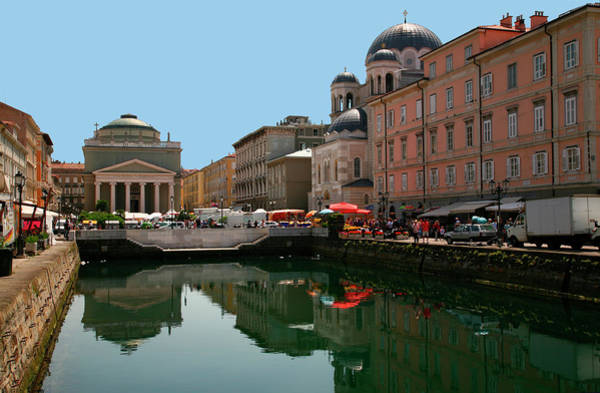 Friuli Photograph - Trieste Grand Canal Canal Grande by Max Paoli