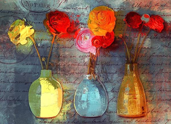 Still Life Digital Art - Triflorus - S02bc4 by Variance Collections