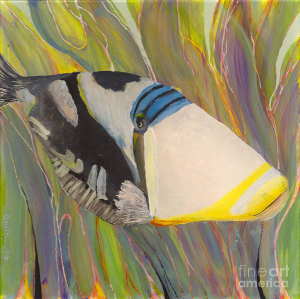 Painting - Triggerfish 2 by Anna Skaradzinska
