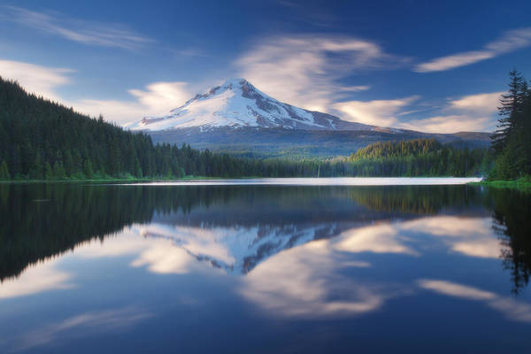 Photograph - Trillium Lake Escape by Darren  White
