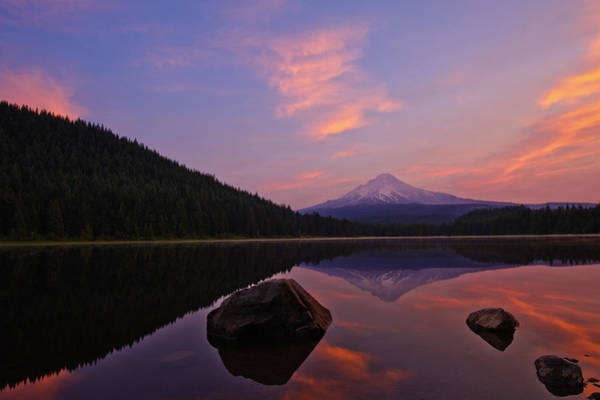 Wall Art - Photograph - Trillium Lake Sunrise by Dan Mihai