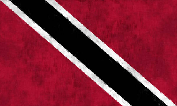 Carribean Islands Digital Art - Trinidad And Tobago Flag by World Art Prints And Designs