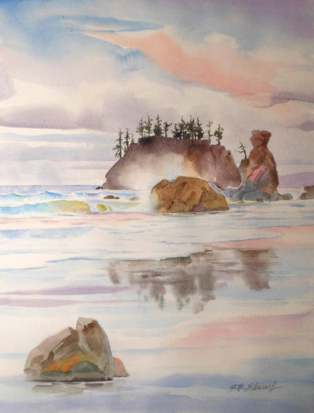 Painting - Trinidad Rocks by John Norman Stewart