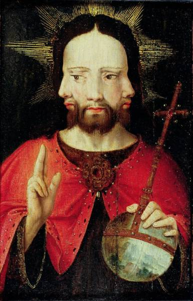 Holy Ghost Photograph - Trinitarian Christ, C.1500 Oil On Panel by Flemish School