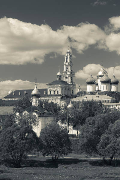 Onion Domes Photograph - Trinity Monastery Of St. Sergius by Panoramic Images