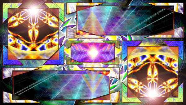 Homeopathy Drawing - Trinity Of Light by Derek Gedney