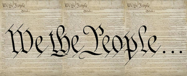 Declaration Of Independence Digital Art - Triple Constitution by Daniel Hagerman