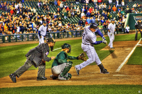 Triples Photograph - Triple Crown Winner Detroit Tigers Miguel Cabrera by A And N Art
