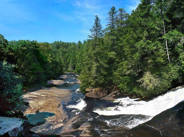 Triples Photograph - Triple Falls North Carolina by Steve Karol
