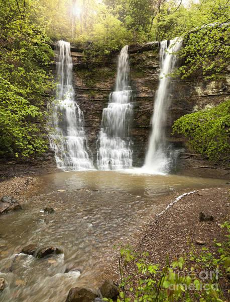 Triple Falls Photograph - Triple Falls Waterfalls In The Arkansas Ozark Mountains by Brandon Alms