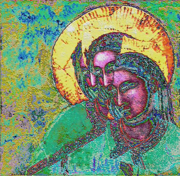 Digital Art - Triple Goddess Magdalene 3 by Lora R Fisher