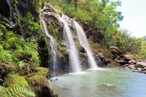 Maui Photograph - Triple Waterfalls by M Swiet Productions