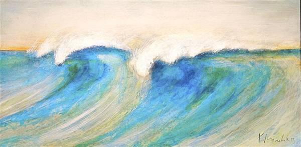 Painting - Triple Wave Crest by Kaata    Mrachek
