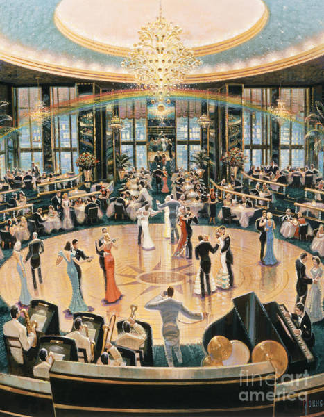 Art Deco Painting - Tripping The Lights Fantastic by MGL Meiklejohn Graphics Licensing