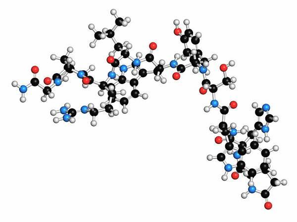 Pharma Wall Art - Photograph - Triptorelin Drug Molecule by Molekuul