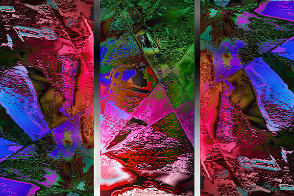 Wall Art - Digital Art - Triptych Chic by Paula Ayers
