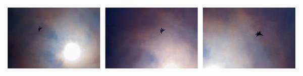 Interceptor Photograph - Triptych Overtaking The Sun - Featured 3 by Alexander Senin