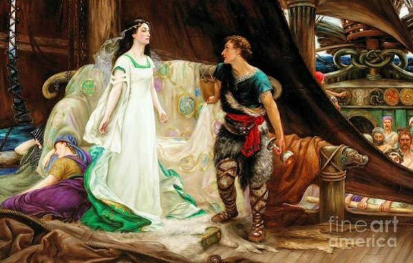 Herbert Draper Painting - Tristan And Isolde by Celestial Images