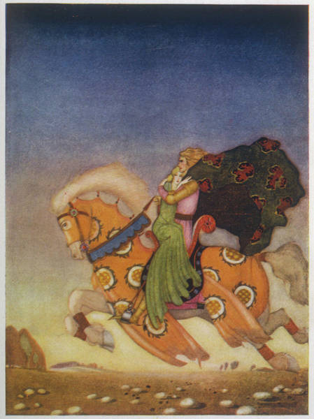 Wall Art - Drawing - Tristran Carries Isolde Away by Mary Evans Picture Library