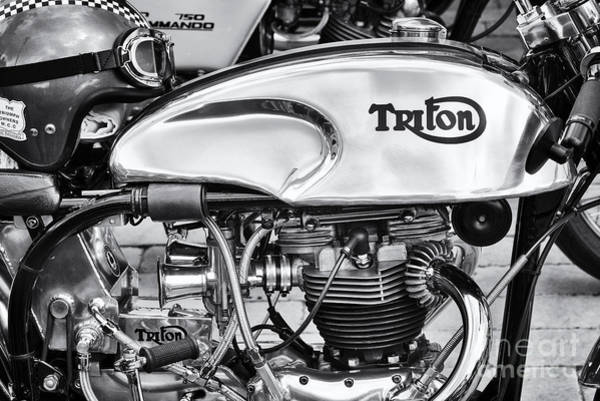 Photograph - Triton Cafe Racer Monochrome by Tim Gainey